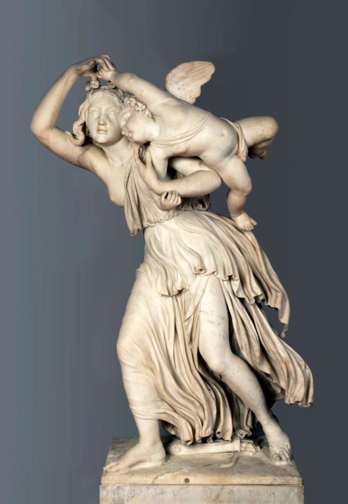 Engel József: Fiatal lány Amorral, 1861