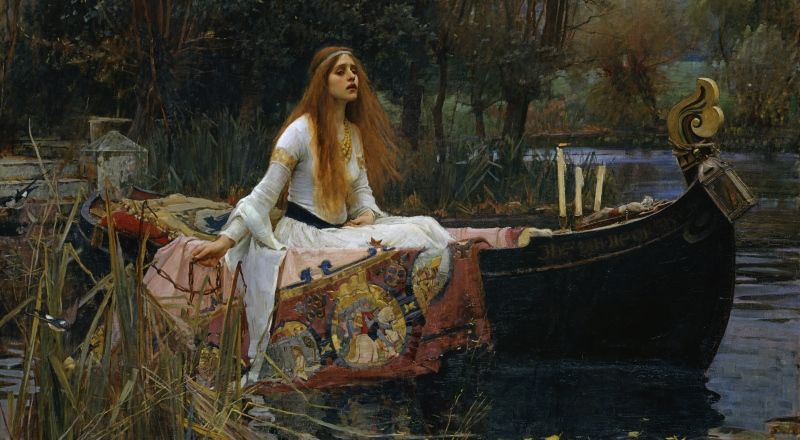 John William Waterhouse, The Lady of Shalott, 1888_800x440