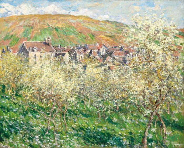 Claude Monet: Virágzó szilvafák, 1879