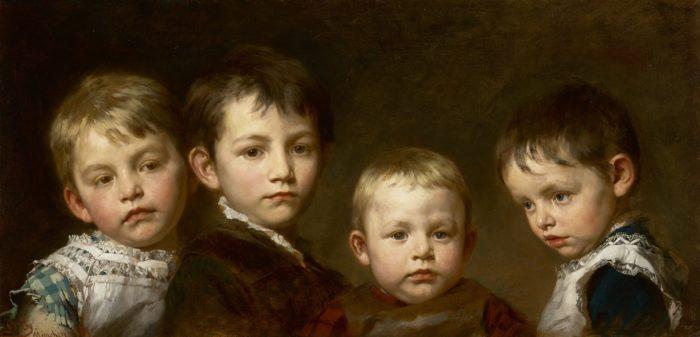 Benczúr Gyula: Gyermekeim, 1881