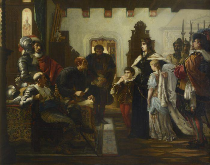 Madarász Viktor: Zrínyi Ilona Munkács várában, 1859