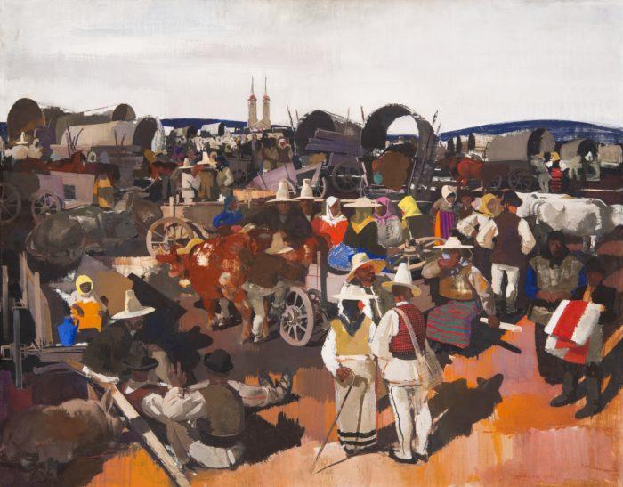 Aba-Novák Vilmos: Csíkszeredai vásár, 1935
