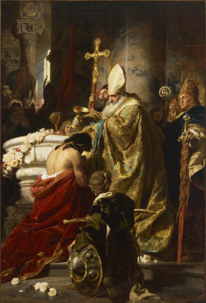 Benczúr Gyula: Vajk megkeresztelése, 1875