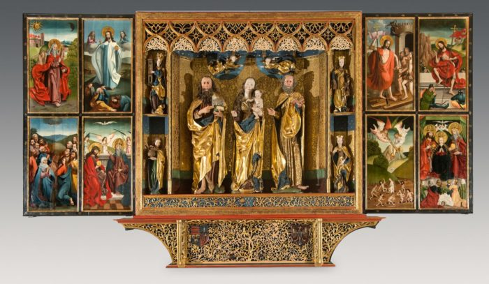 Keresztelő Szent János-főoltár a kisszebeni Keresztelő Szent János-templomból, 1496
