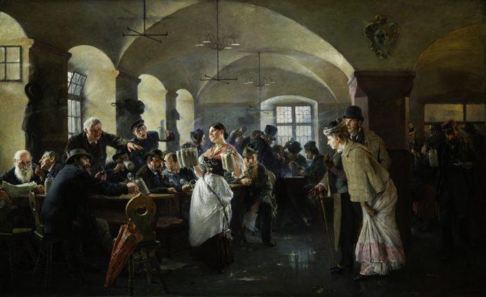 László Fülöp: A Hofbräuhaus Münchenben, 1892