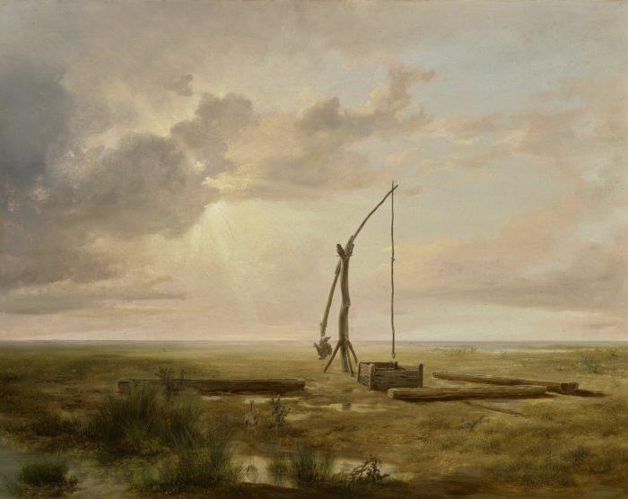 Markó Károly: Magyar alföldi táj gémeskúttal, 1853
