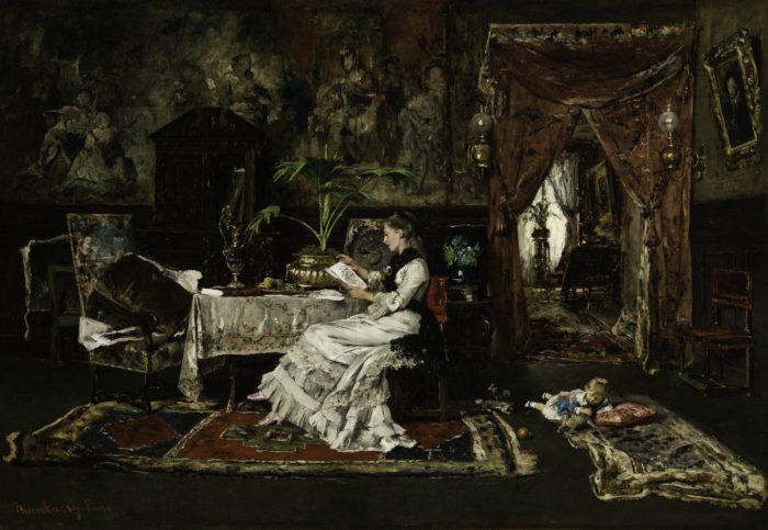 Munkácsy Mihály: Párizsi enteriőr, 1877