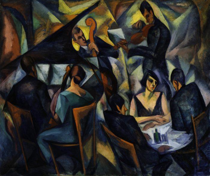 Schönberger Armand: Kávéházi jelenet, 1924