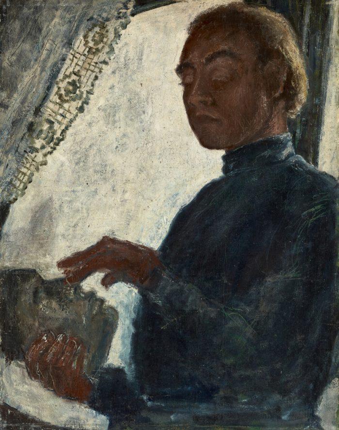 Ámos Imre: Önarckép Ady-maszkkal, 1930