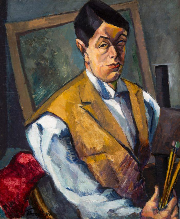 Tihanyi Lajos: Önarckép, 1912