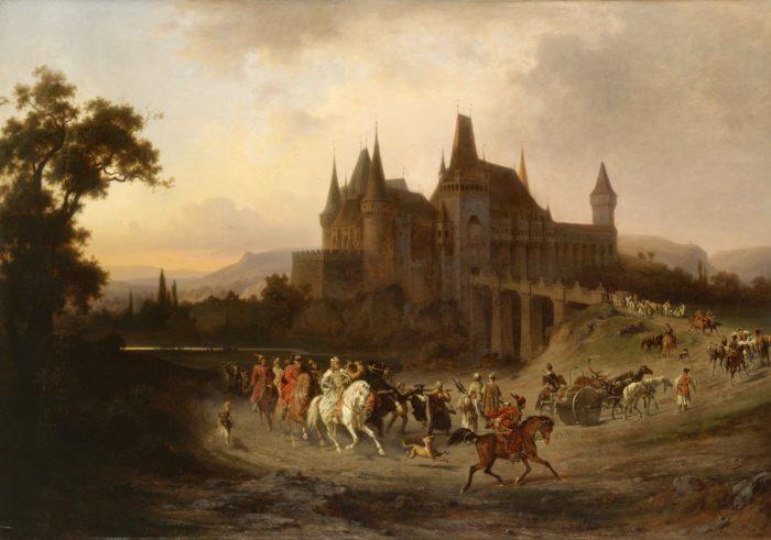Ligeti Antal – Wágner Sándor: Mátyás király hazatérése a vadászatról, 1872 - történik: Mátyás király idejében, a 1400-as évek második felében