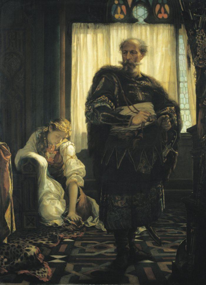 Madarász Viktor: Zách Felicián, 1858 - történik: 1330-ban