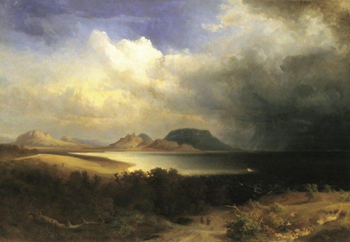 Brodszky Sándor: Kilátás a Balatonra, 1870-es évek eleje