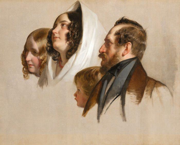 Friedrich von Amerling: Arcképtanulmányok, 1830 körül
