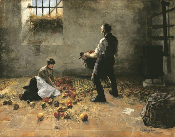 Karcsay Lajos: Almaszüret, 1886