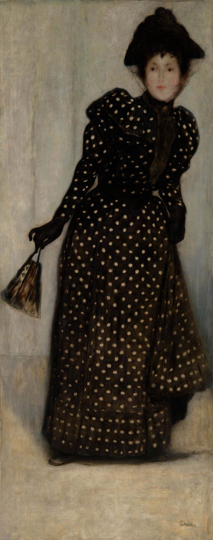 Rippl-Rónai József: Nő fehér pettyes ruhában, 1889 vagy 1892