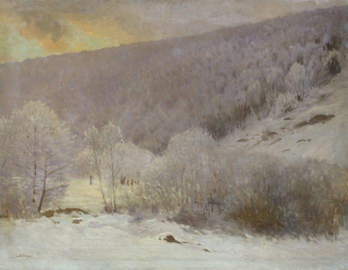 Szinyei Merse Pál: Téli táj, 1901