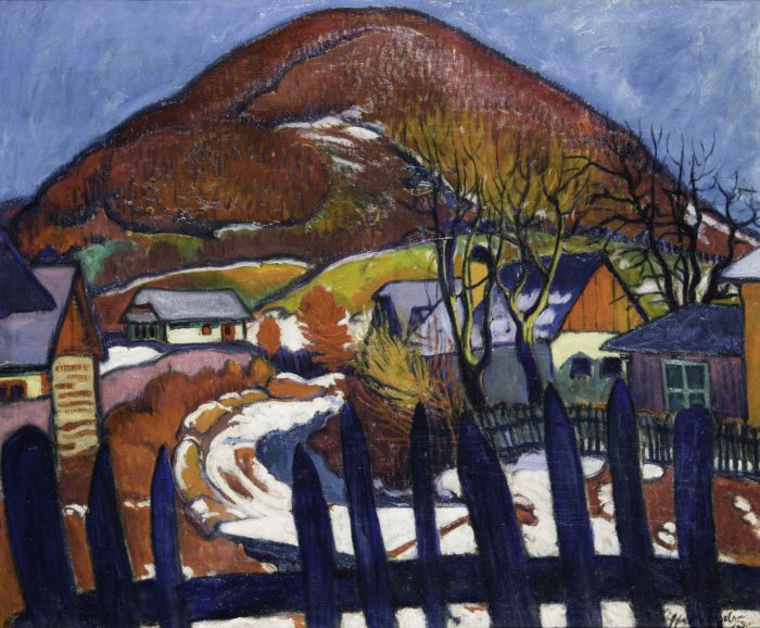 Ziffer Sándor: Téli táj kerítéssel, 1910–1912 között