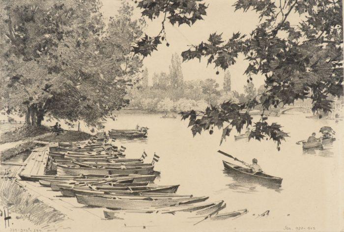 Háry Gyula: A városligeti tó, 1890