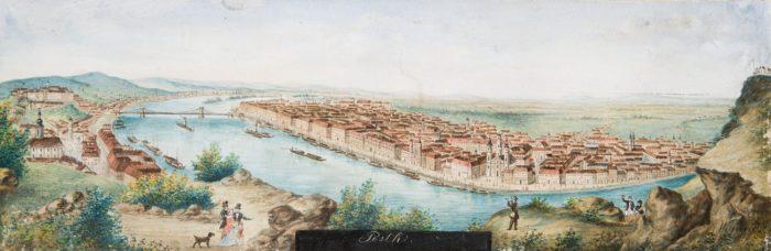 Balthasar Wigand: Pest látképe, 1840-es évek vége