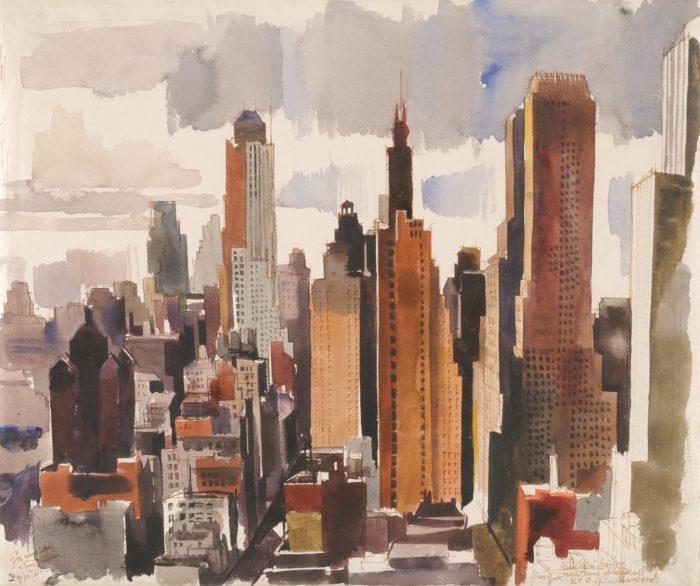 Aba-Novák Vilmos: New York, 1935