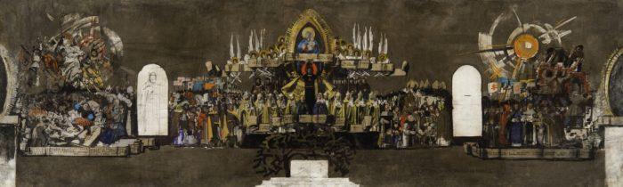 Aba-Novák Vilmos: Vázlat a pannonhalmi Szent István-kápolna freskójához, 1938