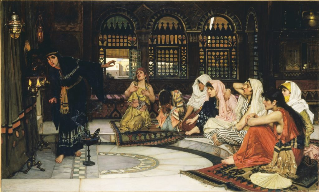 14_John William Waterhouse, Consulting the Oracle, 1884