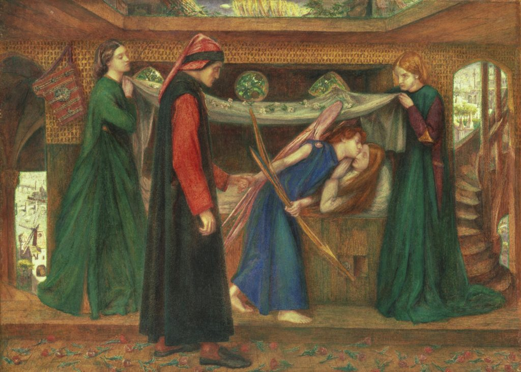 8_Dante Gabriel Rossetti, Dante's Dream at the Time of the Death of Beatrice, 1856