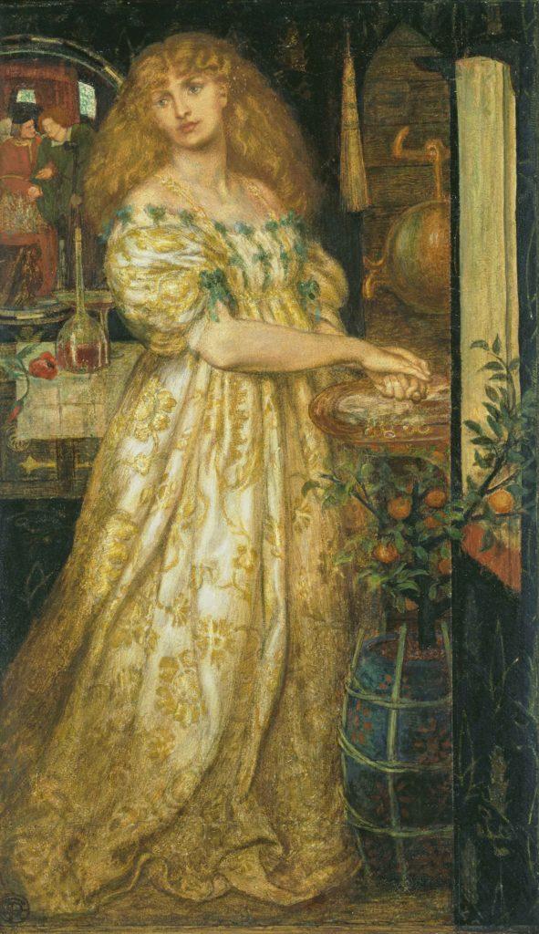 9_Dante Gabriel Rossetti, Lucrezia Borgia, 1860-61
