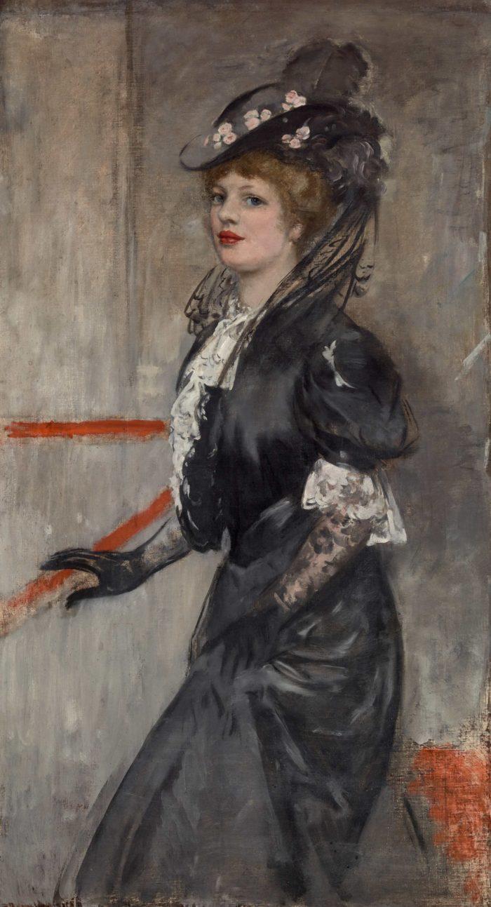 Csók István: Felesége arcképe, 1905 körül