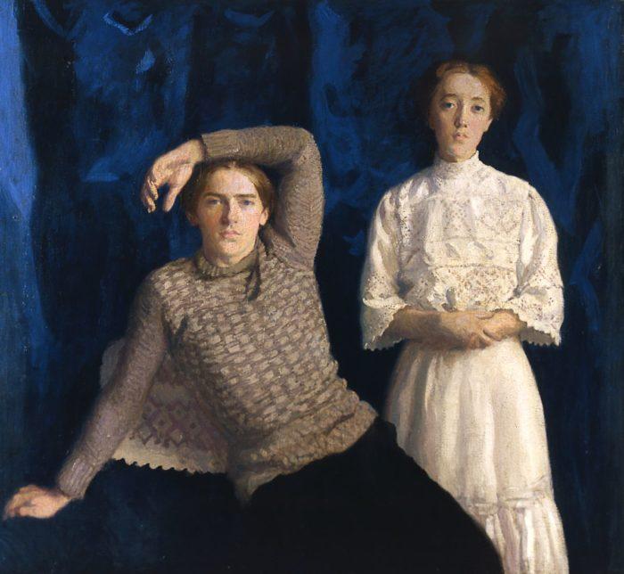 Ferenczy Károly: Kettős arckép (Noémi és Béni), 1908